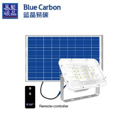 DUSK to Dawn Solar شارع الضوء الخارجي IP66 مع التحكم عن بُعد ضوء LED للفيضان الشمسي بقدرة 60 واط قابل للشحن بالطاقة الشمسية