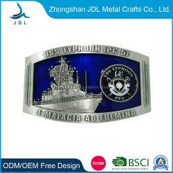 Factory Price Wholesale Custom 3D Fashion 로고 Zinc Alloy / Brass / Western Antique 실버 조절식 금속 핀 벨트 버클(벨트-048)