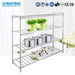 Supporto degli utensili della cucina della cremagliera di memoria del metallo dell'acciaio inossidabile di Heavybao