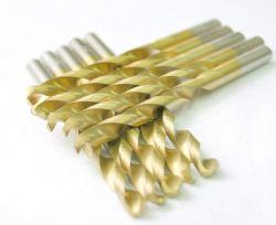 A VHS Cone revestido de titânio torça brocas de perfuração de metal, ideal para perfurações em aço macio, cobre, alumínio, liga de zinco