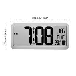 LCDデジタルの柱時計の柱時計のカレンダの温度