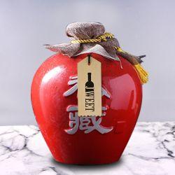 China Collector's Edition 1750ml Sake de cerámica Botella de alcohol y puede