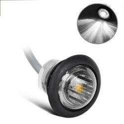 LEIDENE van de Aanhangwagen van 3/4 Duim Lampen van de Vrachtwagen van de Lichten van de Witte Teller van de Ontruiming de Zij