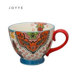 Настраиваемые Handpaint красочные Богемии стиле подарок керамические большой кружкой