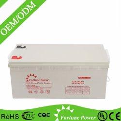 12V200ah Batterie au gel à cycle profond pour système d'alimentation solaire