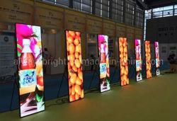 Полноцветный светодиодный индикатор плакатов рекламные окна HD P2.5 Ультратонкие Внутренних Дел High Definition