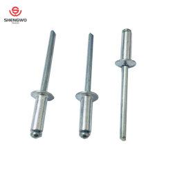 DIN7337 Tipo Aberto Cabeça Abaulada rebites cegos de alumínio