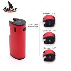 MOD registrabile di Vape della batteria della batteria 650mAh del filetto del commercio all'ingrosso 510 di tensione