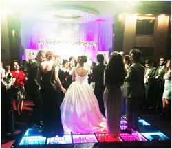 Hot Products LED 3D Optical Illusions LED Mirror Wedding Dance Sezione pavimento