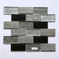 300X300mmの室内装飾ガラスは自然な大理石の黒い石造りのモザイクをタイルを張る