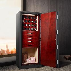 Luxury Personalizar cofre de segurança com gaveta de joalharia e Vidros de relógio