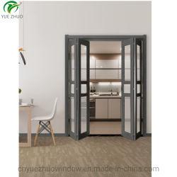 折る引き戸システムアルミニウムガラスBifoldドア