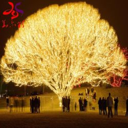 تجاريّة ومحلّيّ زخرفيّة عطلة مهرجان يزهر شجرة ذهبيّة اصطناعيّة [شرّي بلوسّوم] [بش تر] عرف شجرة طاولة شجرة ضوء