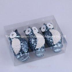 Plastikhandgemalte Shinny Eule Chiristmas Dekorationen