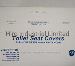 Bom e tecido 1/2 papel dobra lavabo lugares cobrir 250 folhas/Flushable descartáveis lavabo lugares papel da tampa