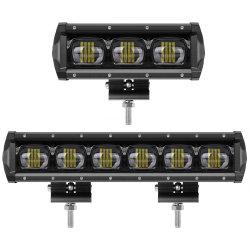 1 列 6D ストリップライト 30W 90W 120W 車スポットライト大型レンズライトバー LED