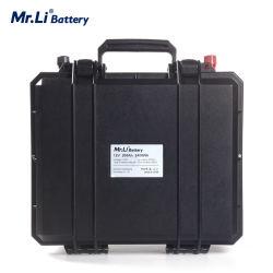 la batteria dello Litio-Ione del pacchetto della batteria di 12V 200ah LiFePO4 ha BMS 12.8V per memoria solare di Motorhome di memoria solare dell'alimentazione elettrica dei campeggiatori EV impermeabile