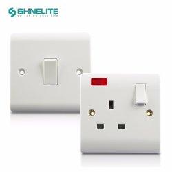 CE CB Shinelite BS Bakelite 13A 전기 벽 조명 스위치 소켓