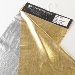 金およびSliver Two Colors Poly SingleジャージーFoil Fabric