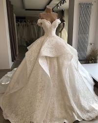 Выключение шаровой шарнир плеча Gowns суда поезд каскадные таблицы стилей кружево свадебные платья устраивающих Z5057
