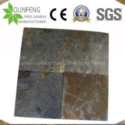 Les revêtements de sol/Paving/dalle de pierre de couleur rouille de tuiles en ardoise naturelle