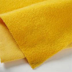 Золотой бархат свитер ткани шерстяной одежды Warp вязания из полированного ткань
