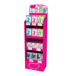 Venda a quente barata de fábrica Design Personalizado Brinquedo Removedor de fiapos Razor Snack Beverage onduladas suporte de ecrã
