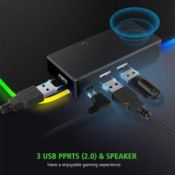 拡張された大きい RGB LED 光っているキーボードマットの昇進のギフト デスクマットゲーマー天然ゴム製ゲーム用マウスパッドゲーマーコンピュータ アクセサリー 3 ハブ & スピーカー