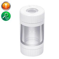 Acryl Jar Plastic Pocket Container Factory Weed Grinder Set Foto Aangepaste Rick en Morty LED