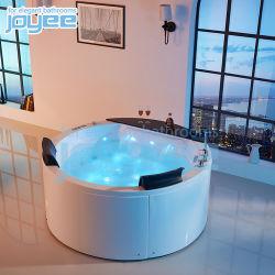 새로운 실내 목욕탕 2 사람 아크릴 둥근 샤워 결합 온천장 온수 욕조 안마 Jacuzzi 소용돌이 욕조