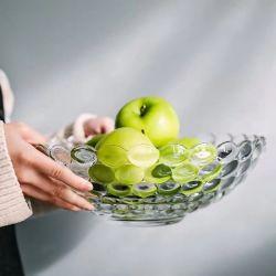 Frutero de cristal/placa sin BPA Garde de alimentos de alta calidad con alta capacidad para mantener las frutas/Snack