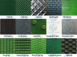 Verde, 2 camadas de tecido / 2camada de revestimento, 2 mm de espessura, 2m de largura *100m de comprimento, Thin Stripe, PVC/PE/PU/EPT/SL o tapete de transporte