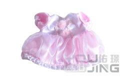 인형을%s 레이스 옷을%s 가진 견면 벨벳 장난감 분홍색 복장