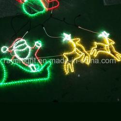 LED das luzes de renas Natal Decoração Motif Santa Luz de corda ao ar livre