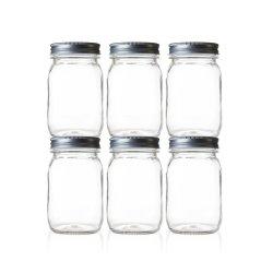 500ml 1000ml Maurer-Glas-Glasnahrungsmittelbehälter-Küche-Speicher-Glas-Fabrik-Großverkauf