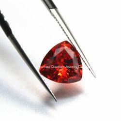 تصميم جميل مرفاع أحمر تريليون يقطع مثلّث اصطناعيّة ماس مطلقا حجر كريم
