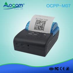 Mini impressora de recibos térmicos Bluetooth portátil de 58 mm para telemóvel