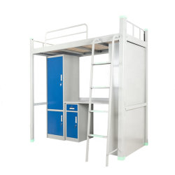 학교 가구 기숙사 사용 금속 가구 공간 절약 2단 침대