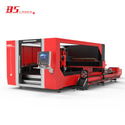 Apparecchiatura laser industriale 1530 tubo a piastra metallica CNC fibra Macchina da taglio laser con dispositivo rotante taglierina