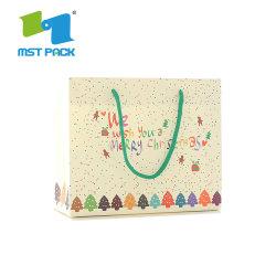 Diseño de moda el plástico brillante papel de la bolsa de regalo de Navidad