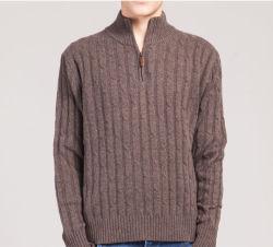 Men's Pure Cashmere Sweater Kaschmir Pull Pull-over Qualité ouvert fermeture à glissière