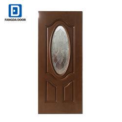 Fangda MDF interior pequeño oval de la puerta de madera tallada de vidrio