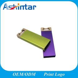 La clave Mini Pendrive USB Flash Disk unidad Flash USB de metal
