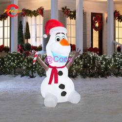 10FT/3m высокое качество Рождество огромный открытый двор Airblown надувных снежную бабу наград, светодиодный индикатор на холсте