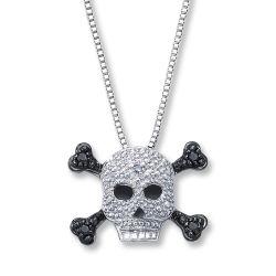 Manier 925 Zilver & de Juwelen van de Juwelen van de Halsband van het Ontwerp van de Schedel van CZ