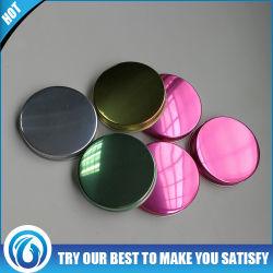 Parafuso de alumínio de venda quente topo da tampa tampa do vaso elevado de produtos cosméticos