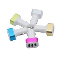 3つのUSBポートのスマートなアルミ合金の正方形のQualcommの速い料金+スマートなIC車力のアダプターの充電器(iPhone 7)のためのDC 24V、
