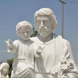 Statue de Jésus sculptés à la main avec l'enfant (GSS-165)