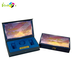 Kleines Geschenk-Pappbildschirmanzeige-Abzeichen-Andenken-Münzen-Luxuxmetallpapierverpackenkasten