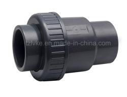 Válvula de Retenção UPVC única União para a piscina interior com a norma ISO9001 (ANSI, DIN, CNS, BSPT, NPT)